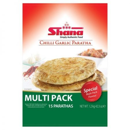 Chilli And Garlic Paratha Bread 6 per pack
