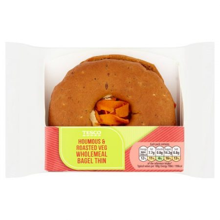 Tesco Houmous And Roasted Vegetable Bagel Thin