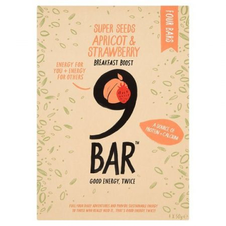 9Bar Apricot And Strawberry Breakfast Boost Bar 200G