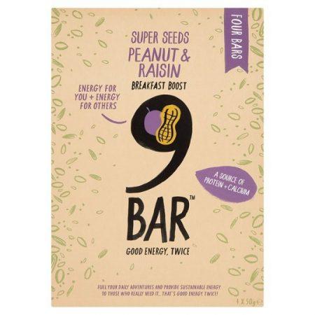 9Bar Peanut And Raisin Breakfast Boost Bar 200G