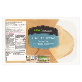 ASDA Chosen by You 6 White Pittas