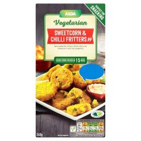 ASDA Vegetarian Sweetcorn & Chilli Fritters 240g