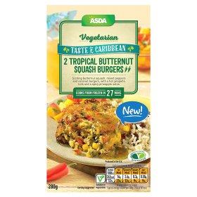 ASDA Vegetarian Taste of Caribbean 2 Tropical Butternut Squash Burgers