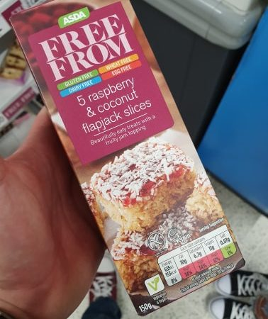 ASDA Free From 5 Raspberry & Coconut Flapjack Slices