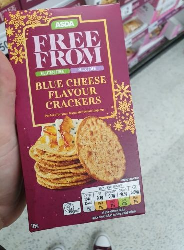 ASDA Free From Blue Cheese Flavour Crackers