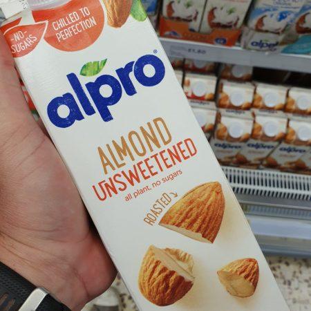 Alpro Almond Roasted Unsweetened Fresh Drink Alternative 1 Litre