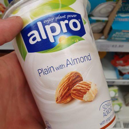Alpro Big Pot Plain With Almond Yoghurt Alternative 500G