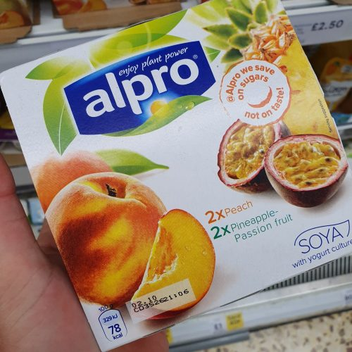 Alpro Exotic Fruit & Peach Yoghurt 4X125g
