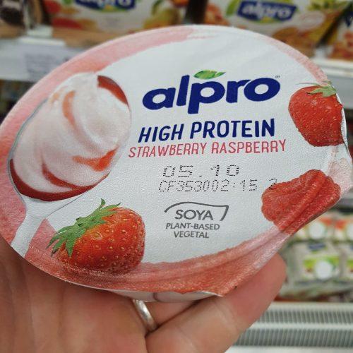 Alpro Greek Style Strawberry & Raspberry Yoghurt 150G