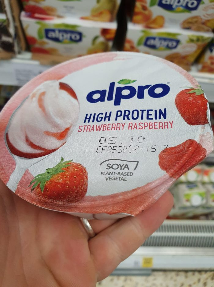 Alpro Greek Style Strawberry & Raspberry Yoghurt 150G