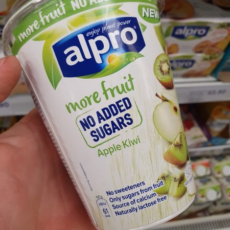 Alpro More Fruits No Added Sugar Apple Kiwi Yoghurt 400G