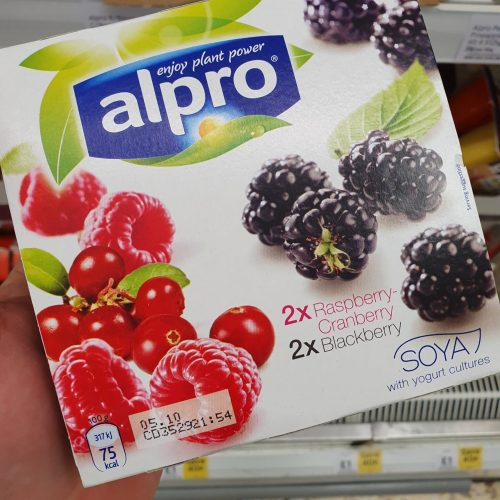 Alpro Soya cherry & blueberry plant-based alternative to yoghurt 4x125g