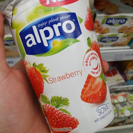 Alpro Strawberry Yoghurt 500G
