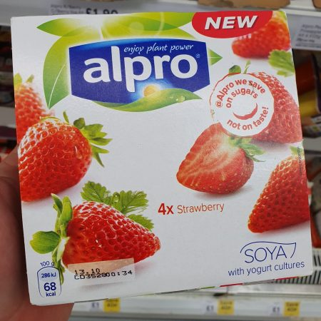 Alpro Strawberry Yoghurt 4 X125g