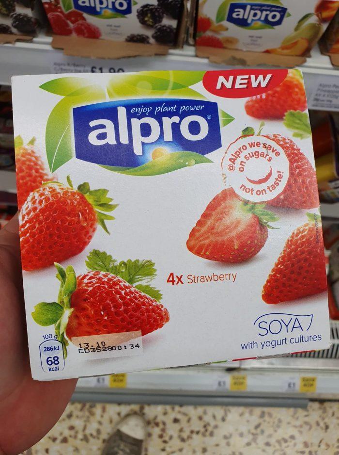 Alpro Strawberry Yoghurt 4 X125g