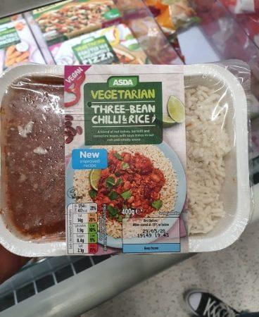 Asda Three Bean Chilli & Rice 400g