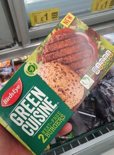 Birds Eye 2 Green Cuisine Meat Free Burgers