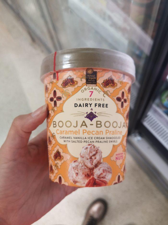Dairy Free Booja-Booja Caramel Pecan Praline Ice Cream