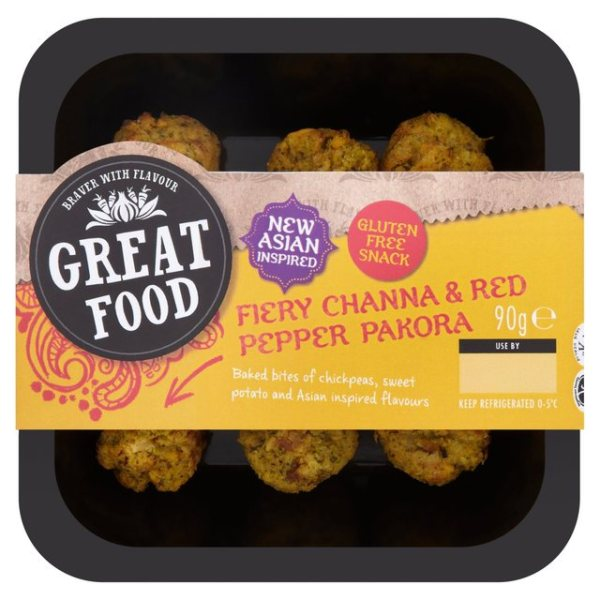 Fiery Channa & Red Pepper Pakora Bite Snacks 90g