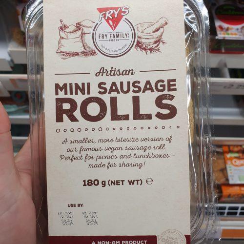 Frys Vegan Mini Sausage Rolls 180g