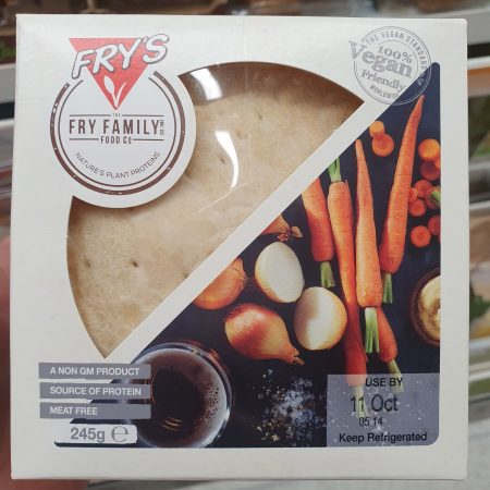 Frys Vegan Steak Style & Ale Pie 245g