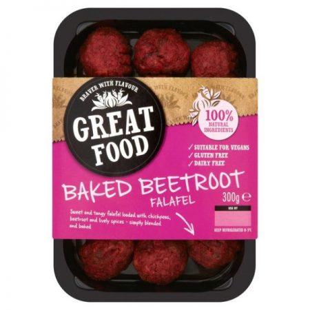 Great Food Baked Beetroot Falafel 300g