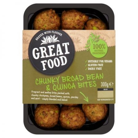 Great Food Chunky Broad Bean & Quinoa Bites 300g