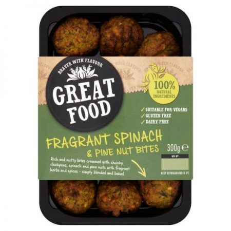 Great Food Spinach & Pine Nut Bites 300g