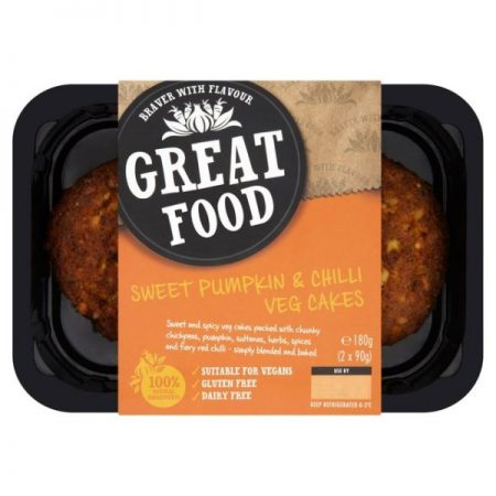 Great Food Sweet Pumpkin & Chilli Vegetable Cakes 180g