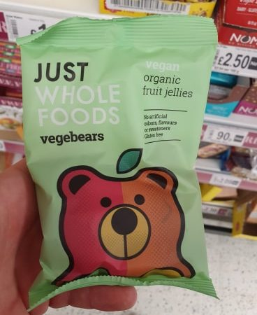Just Wholefoods Vegebears Vegan & Organic Fruit Jellies