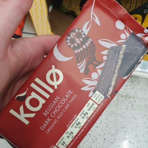 Kallo Dark Chocolate Rice Cake Thins Gluten Free 90g