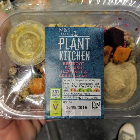 M&S Plant Kitchen Beetroot, Squash, Hazelnut & Grain Salad