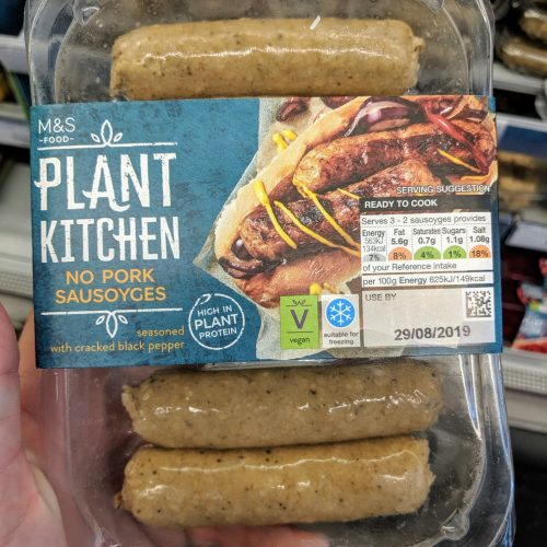 M&S Plant Kitchen No Pork Sausoyges