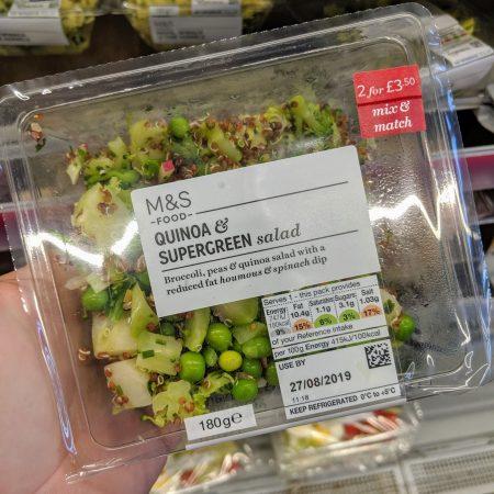 M&S Quinoa & Supergreen Salad