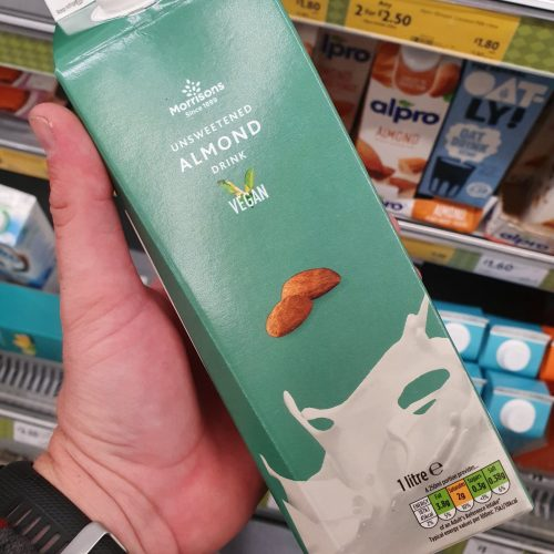 Morrisons Unsweetened Almond Milk 1L