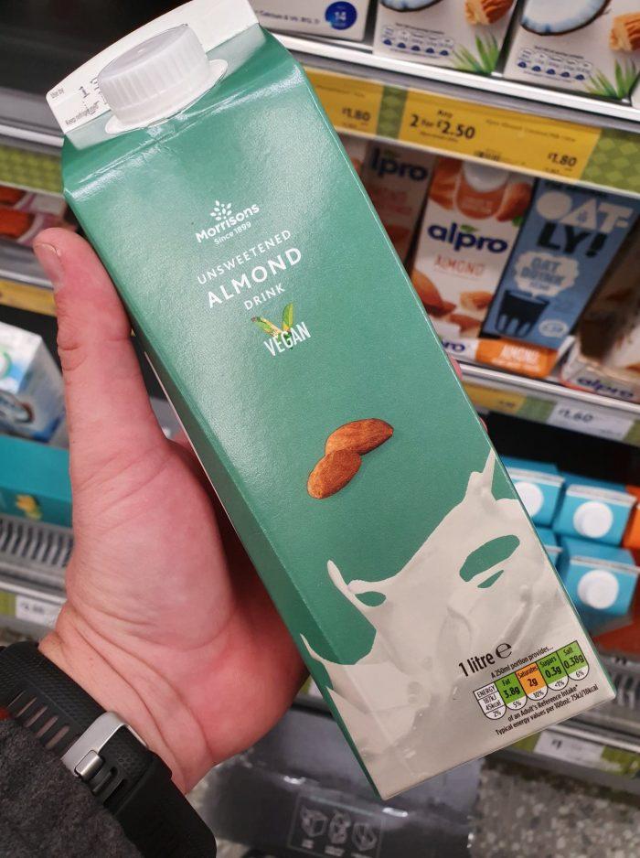 Morrisons Unsweetened Almond Milk 1L