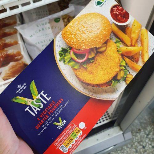 Morrisons V Taste 4 Vegetarian Quarter Pounders 454g