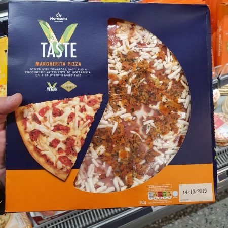 Morrisons V Taste Diced Tomato & Dried Basil Margherita Pizza 340g