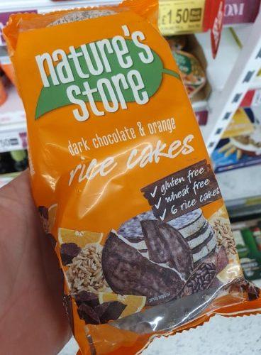 Nature's Store Free From 6 Dark Chocolate Orange Rice Cakes