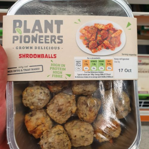 plant pioneers vegan shroomballs 240g from sainsbury's