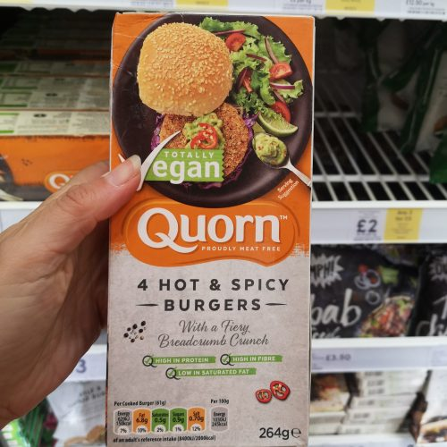 Quorn Vegan Hot & Spicy Burger 4 Pack 264G