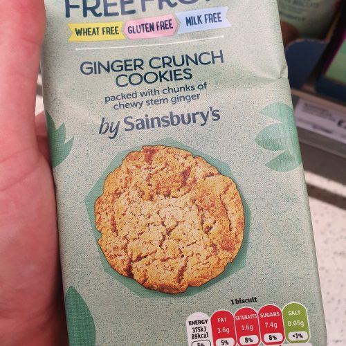Sainsbury's Deliciously Free From Ginger Crunch Cookies 150g