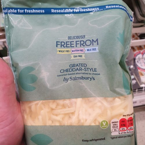 Sainsbury's Deliciously Free From Grated Cheddar-Style Coconut Based Alternative To Cheese ...