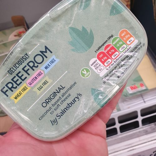 Sainsbury's Deliciously Free From Original Coconut Based alternative To Soft Cheese 170g