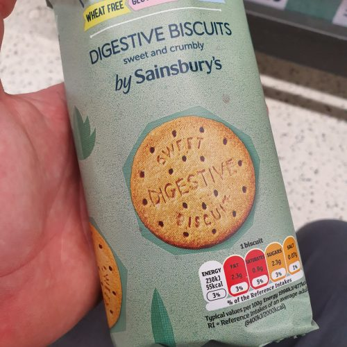 Sainsbury's Deliciously Free From Plain Digestives 160g