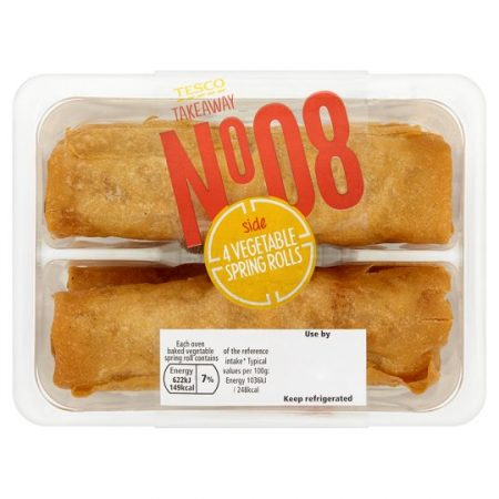 Tesco 4 Vegetable Spring Rolls 240G