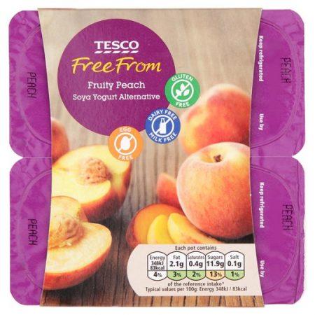 Tesco Free From Peach Yoghurt 4X100g