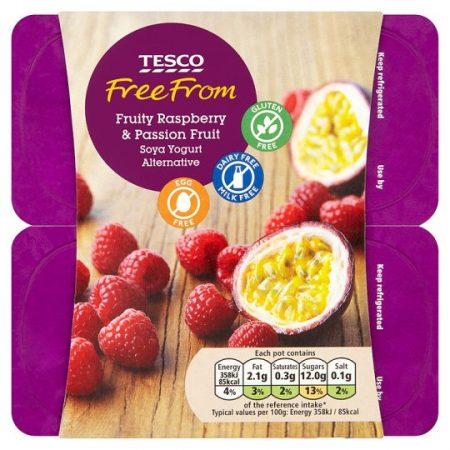 Tesco Free From Raspberry Passion Fruit Yogurt4x100g