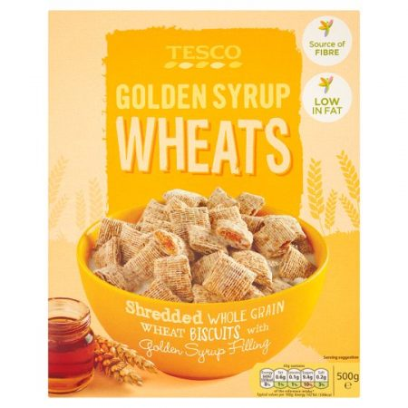 Tesco Golden Syrup Wheat Cereal 500G