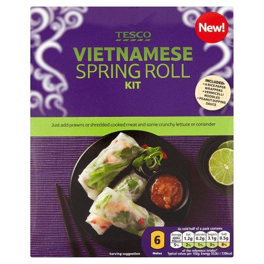 Tesco Vietnamese Spring Roll Meal Kit 145G